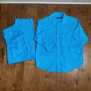 Lauren Ralph Lauren polka dot pajama pant set M